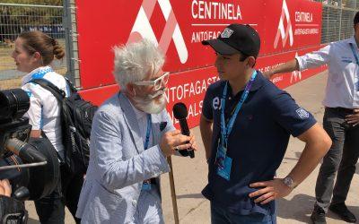 Nico en el Santiago e-Prix 2020.