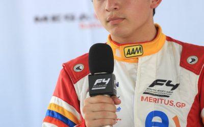 Chileno de 15 años debutó en Malasia en la Fórmula 4 asiática