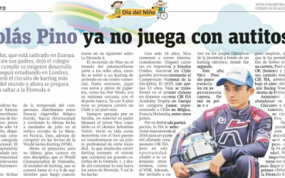 Nico Pino acelera rumbo al sueño de la F1